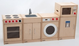 Wooden 5-Feature Kitchen (Unassembled)