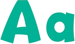 "Playful Solids 4"" Uppercase/Lowercase Ready Letters® Combo Pack, Teal"
