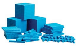Base Ten Class Set, Blue Plastic