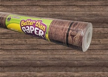 Better Than Paper® Bulletin Board Roll, Dark Brown Wood