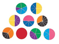 Deluxe Rainbow Fraction® Circles, Set of 51