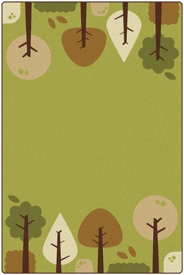 KIDSoft™ Tranquil Trees Carpet, Green