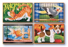 Wooden Jigsaw Puzzles in a Box, Pets
