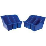 Interlocking Book Bin, Small, Blue
