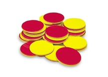 Two-Color Counters, Red/Yellow, Set of 200