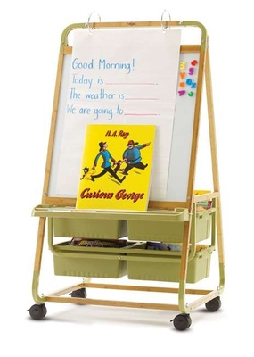 Single Sided Bamboo Teaching Easel - Value Priced