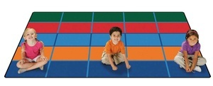KID$ Value Rugs™, Color Blocks Seating Rug, 6' x 9'