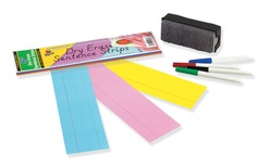 "Dry Erase Sentence Strips, Assorted, 3"" x 12"""