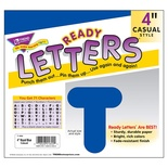 "4"" Uppercase Casual Solids Ready Letters®, Royal Blue"