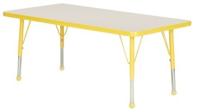 "Creative Colors® Activity Table, 30"" x 72"" Rectangle - Nebula Top/Teal Trim - slight damage-1 ONLY"