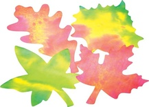 Color Diffusing Paper, Leaves