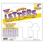 Uppercase/Lowercase Casual Solids Ready Letters® Combo Pack, Solid White 4""