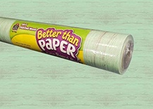 Better Than Paper® Bulletin Board Roll, Mint Painted Wood