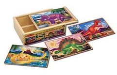 Wooden Jigsaw Puzzles in a Box, Dinosaurs