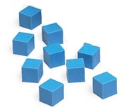 Plastic Base Ten Components, 100 Blue Units