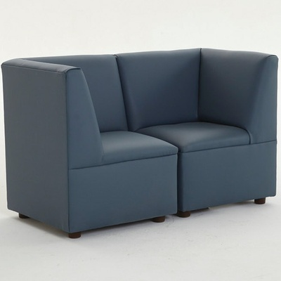 """Just Like Home"" Modern Casual Cozy Corner Chair, Enviro-Child Upholstery, Blue"