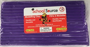 Quality Soft Modeling Clay, Violet, 500g