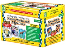 Photographic Learning Cards: Nouns, Verbs and Adjectives