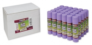 Economy Glue Stick, Purple, .28 oz., Box of 30
