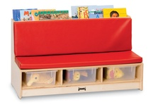 Jonti-Craft® Literacy Couch, Red