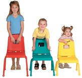 "Creative Colors® Split Bucket Chair, 12"" Seat Height LIMITED COLORS/QUANTITIES AVAILABLE."