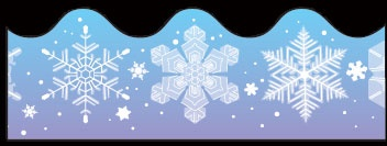 Snowflakes Scalloped Border