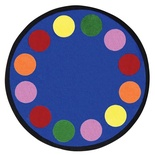 Lots of Dots™ Round Rug, Primary Colors