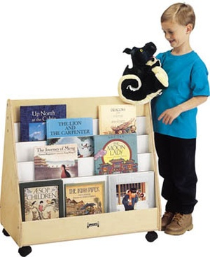 2-Sided Mobile Pick-a-Book Stand